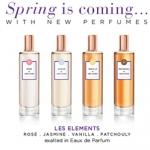 Molinard(莫利纳尔)品牌的Les Elements(元素)系列:Jasmin(茉莉),Rose(玫瑰),Vanilla(香草),Patchouli(广藿香)香水